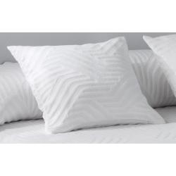 Funda de almohada con efecto ondulado HAWAI color blanco