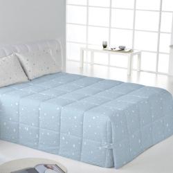 Edredón con botones comforter KALO azul, gris, rosa o beige
