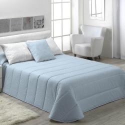 Edredón de invierno para cama MOLE fondo azul, gris, rosa o beige