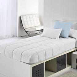 Edredón con gomas ajustables para cama 105, 90 , 80 MOLE topitos azul, rosa, gris o beige