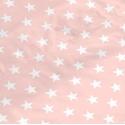 tejido saco nordico ESTRELLAS blancas sobre rosa