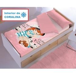 Saco coralina de Denisa Home para cama de niña MELISA color rosa