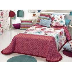 Colcha infantil confortino GLOBE para cama de 80, 90 o 105 cm