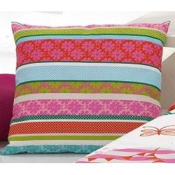 Cojín con rayas de colores GLOBE para cama infantil