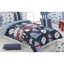 Fundas nórdicas infantiles serie MONSTERS color azul para cama de 90 o 105 cm