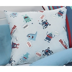 textil para cama serie Monsters color azul de marca Cañete
